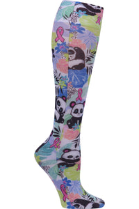 Cherokee Fashionsupport Compression Socks Wide Calf Garden Panda-monium