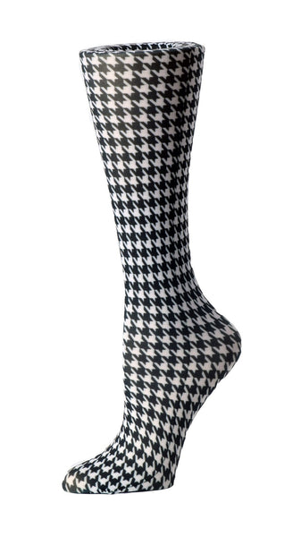 Cutieful Compression Socks 10-18 mmHG Wide Calf Knit Houndstooth