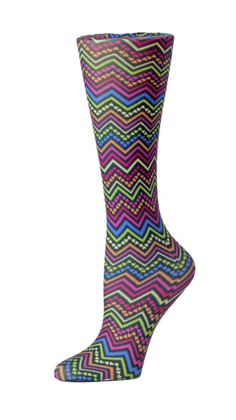 Cutieful Moderate Compression Socks 10-18 MMhg Wide Calf Knit Izzy Hearts at Parker's Clothing and Shoes.