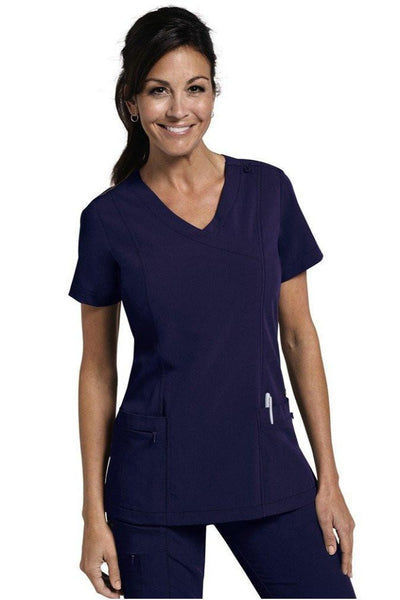 Jockey Scrub Top Classic Mock Wrap in Navy 2306 at Parker's Clothing and Shoes