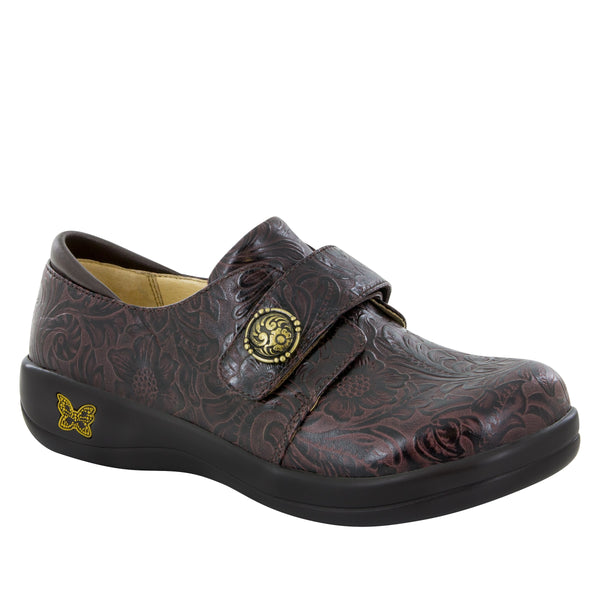 Alegria Joleen Molasses Tooled Shoe - Parker's Clothing & Gifts
