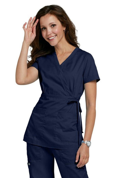 Koi Scrub Top Katelyn in Navy At Parker's Clothing and Shoes