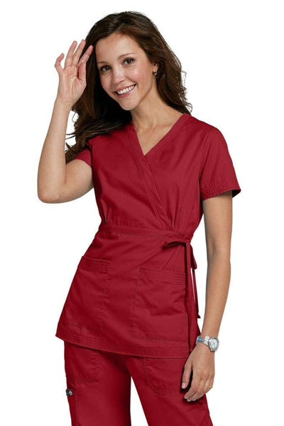 Koi Scrub Top Katelyn in Ruby At Parker's Clothing and Shoes