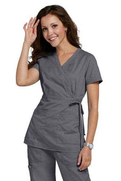 Koi Scrub Top Katelyn In Steel At Parker's Clothing and Shoes