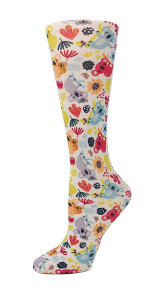 Cutieful Moderate Compression Socks 10-18 MMhg Wide Calf Knit Kuddly Koalas at Parker's Clothing and Shoes.