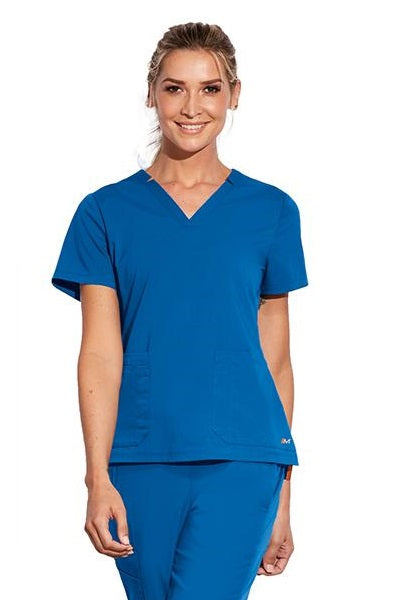 Motion by Barco Scrub Top Claire V-Neck in New Royal at Parker's Clothing and Shoes