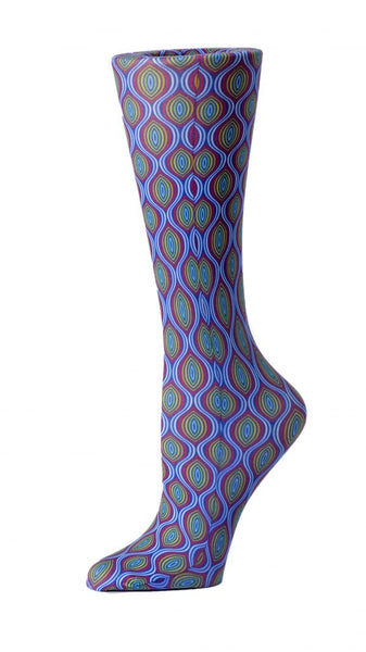 Cutieful Mild Compression Socks Sheer 8-15 mmHg Magic Eye at Parker's Clothing and Shoes.