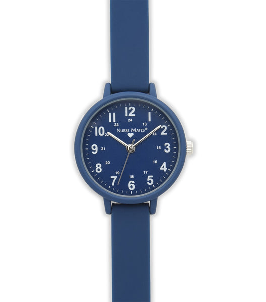 Nurse Mates Watch Analog With Second Hand Day True Navy 1.25""