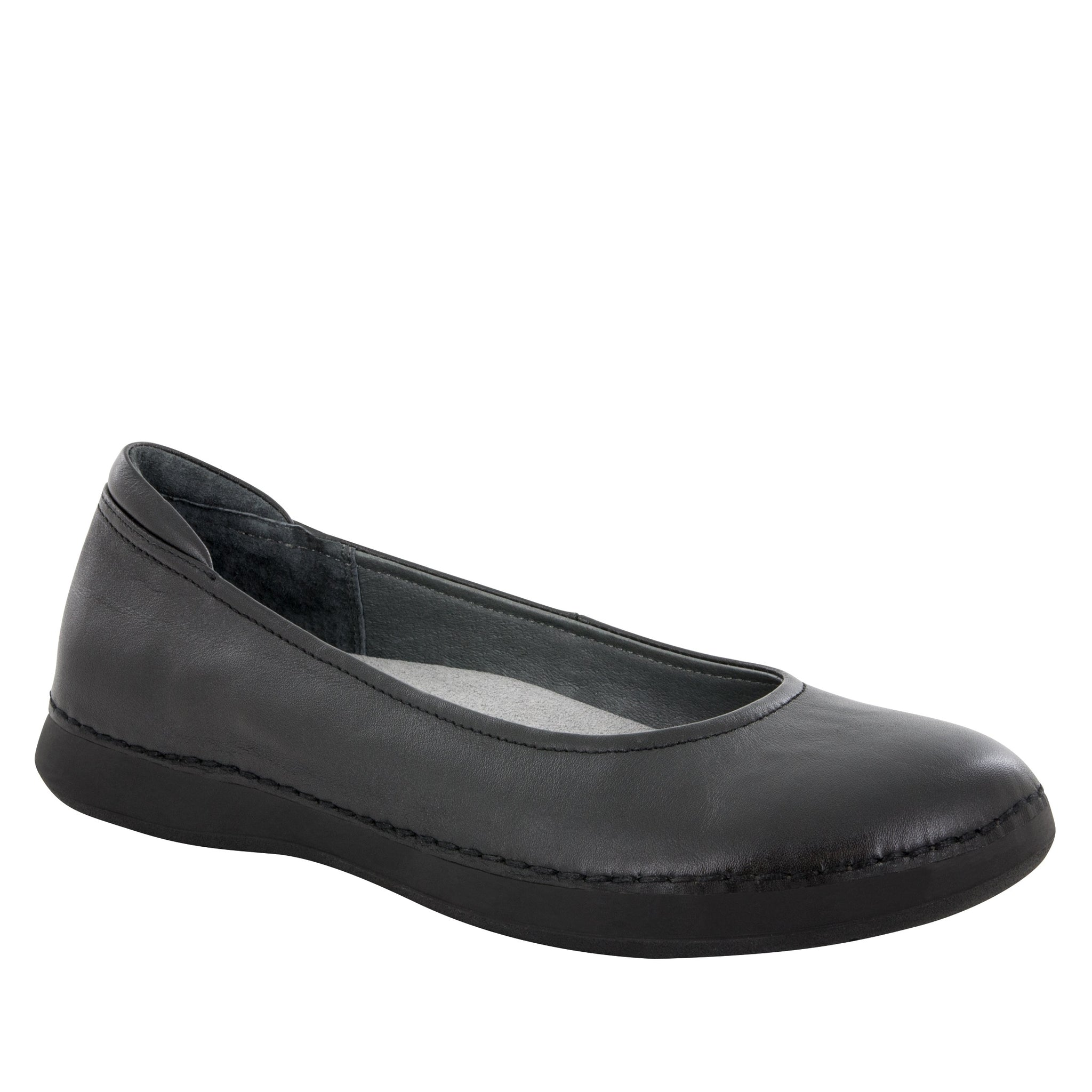 Sale Shoe Alegria Petal Black Nappa Flat - Parker's Clothing & Gifts
