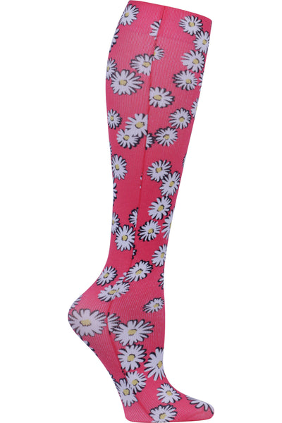 Celeste Stein Mild Compression Socks 8-15 mmHG Floating Daisies at Parker's Clothing and Shoes.