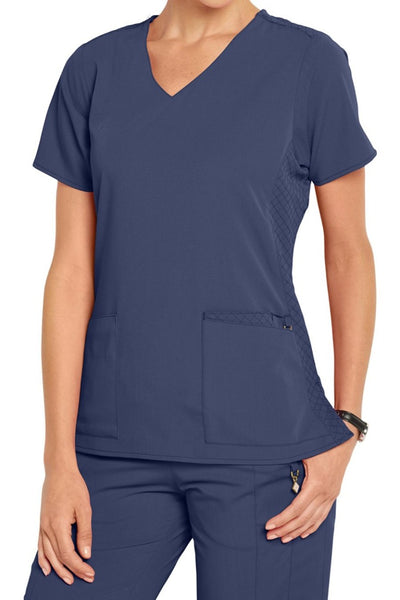 Vera Bradley Scrub Top Halo Nettie V-neck in Navy at Parker's Clothing and Shoes