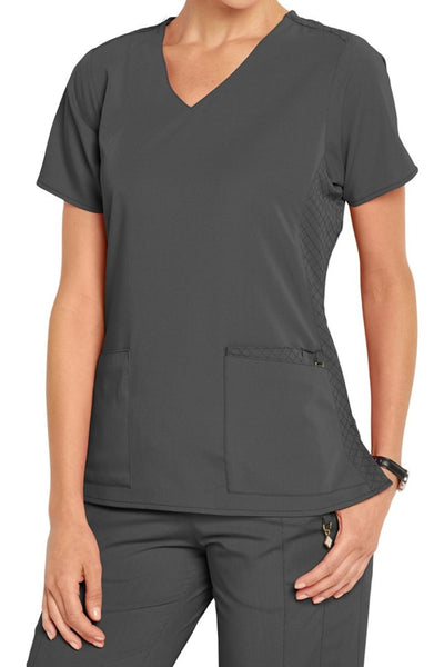 Vera Bradley Scrub Top Halo Nettie V-neck in Pewter at Parker's Clothing and Shoes