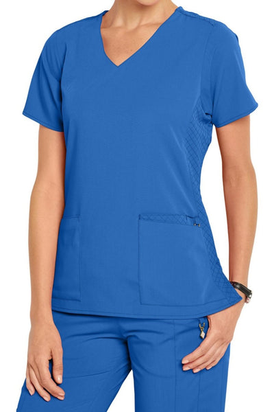 Vera Bradley Scrub Top Halo Nettie V-neck in Royal at Parker's Clothing and Shoes