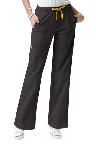 WonderWink Plus Size Scrub Pants Four-Stretch Sporty Cargo in Graphite at Parker's Clothing and Shoes