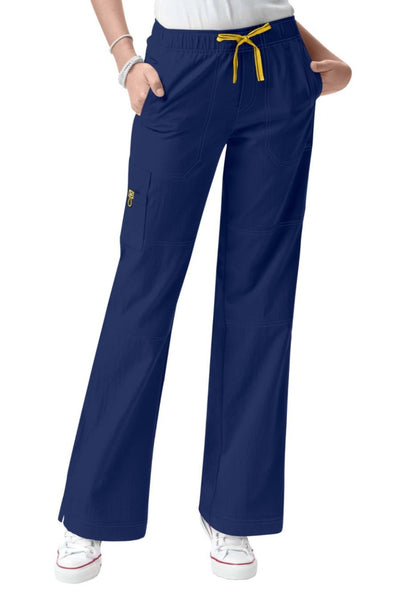 WonderWink Plus Size Scrub Pants Four-Stretch Sporty Cargo in Navy at Parker's Clothing and Shoes