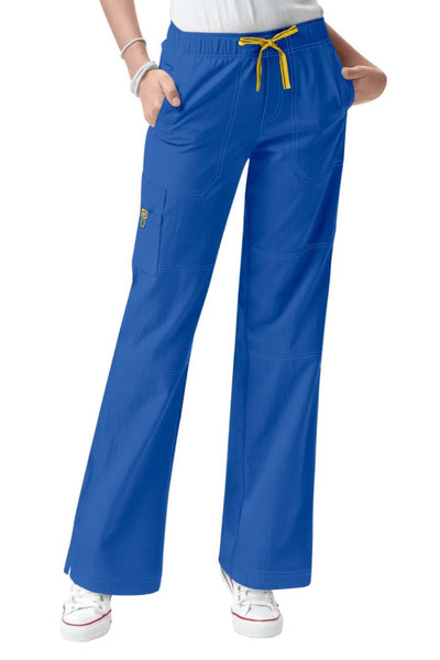 WonderWink Plus Size Scrub Pants Four-Stretch Sporty Cargo in Royal at Parker's Clothing and Shoes