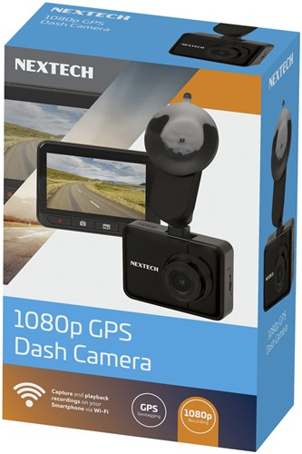 Dash Camera GPS with 2.7 Inch LCD 1080p and Wi-Fi