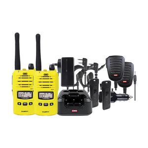 GME TX6160YTP 5 Watt UHF CB Yellow Handheld Radio - Twin Pack