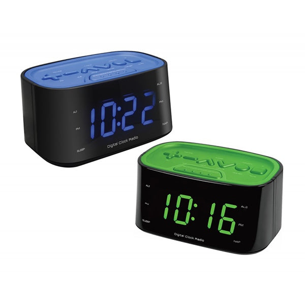 LENOXX Jumbo Display FM Clock Radio with USB