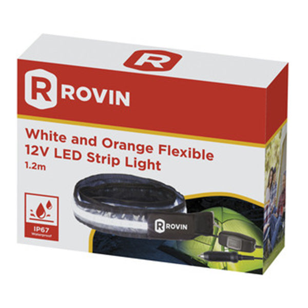Led Strip Flex Wht/Org Ip67 1.2m Rovin