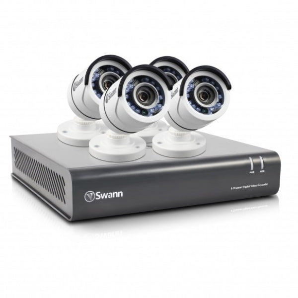 SWANN 8 Channel 1080p HD Digital Video Recorder with 4 Cameras