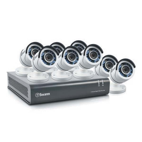 SWANN 8 Channel 1080p HD Digital Video Recorder with 8 Cameras