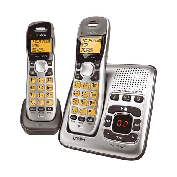 UNIDEN DECT Digital Phone System With Answering Machine & 2 Handsets