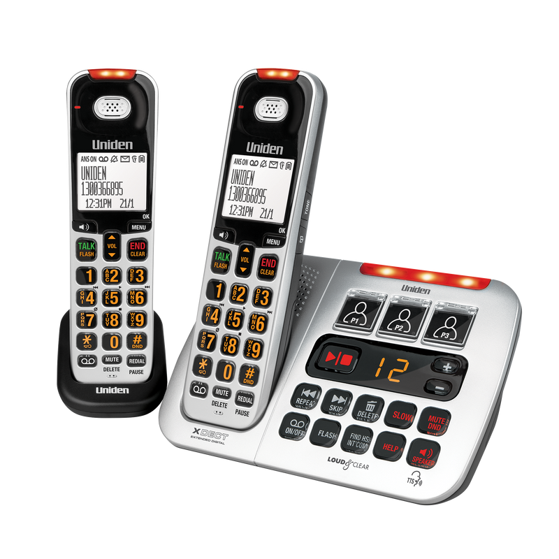 Uniden SSE45+1 Sight & Sound Enhanced Cordless Phones