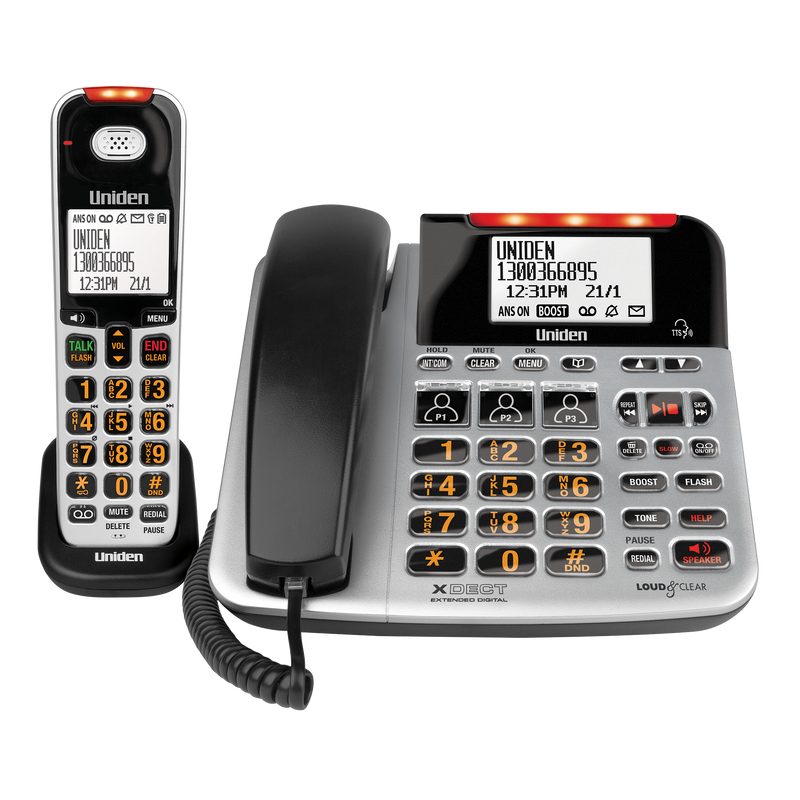 Uniden SSE47+1 Sight & Sound Enhanced Corded & Cordless Digital Phone TAM