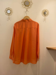 Leichte Bluse orange