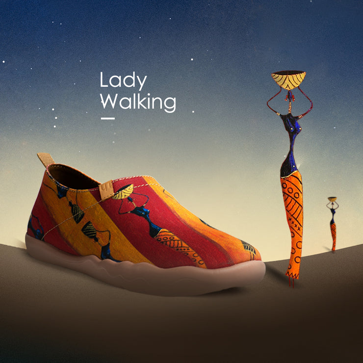 LADY WALKING Painted Canvas Shoes