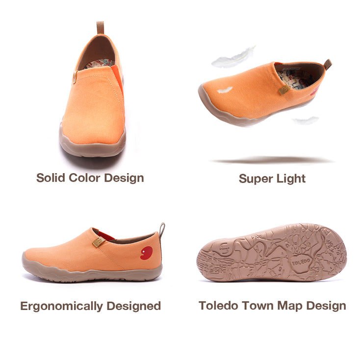 Toledo Orange- Women Canvas Casual Shoes