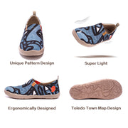 Charming Kiss Men Blue Canvas Art Painted Travel Shoes