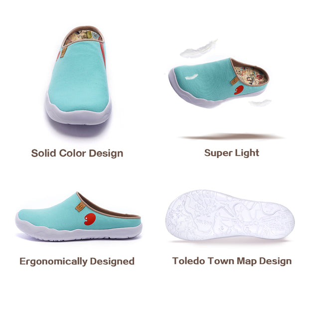 Marbella Blue Slipper- Women Men Canvas Casual Shoes