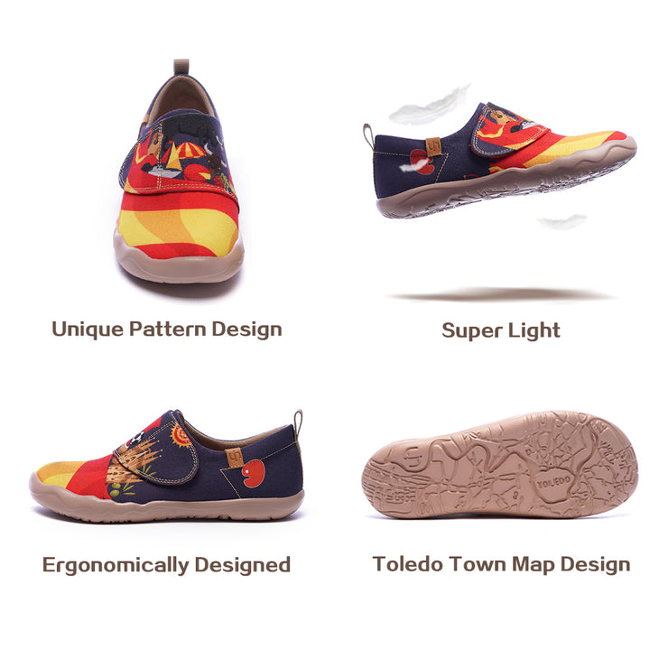 -Iberia- Kids Art Painted Canvas Shoe