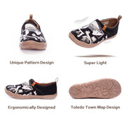Secondary Element Abstract Women Flats Canvas Shoes