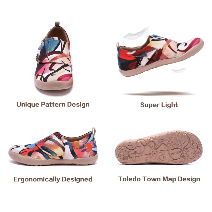 ARTFULLY YOURS- Kids Art Painted Canvas Shoes