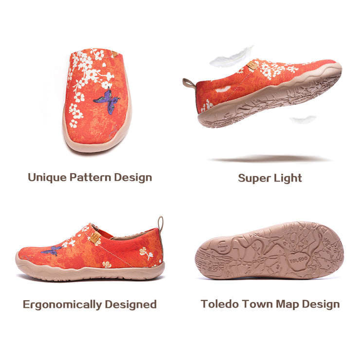-Sakura- Women Art Painted Walking Shoe