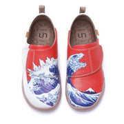 WAVY MONSTER- Kids Art Painted Leather Shoes