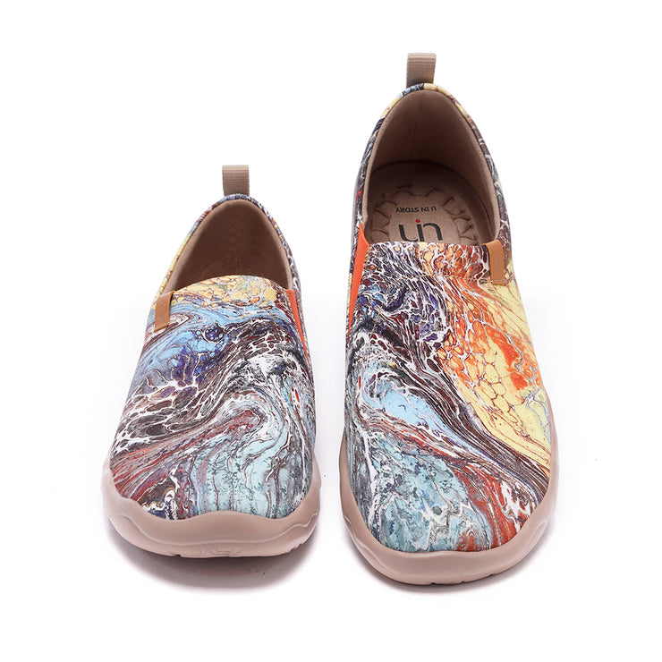Arts & Drafts Men Canvas Art Painted Travel Shoe