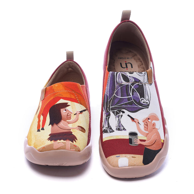 -Beautybull- Women's Canvas Art Painted Travel Shoe