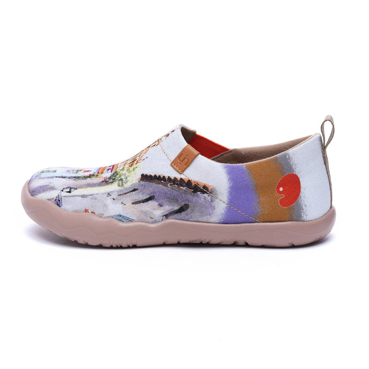 -Patios Bonitos- Women's Canvas Art Painted Travel Shoes