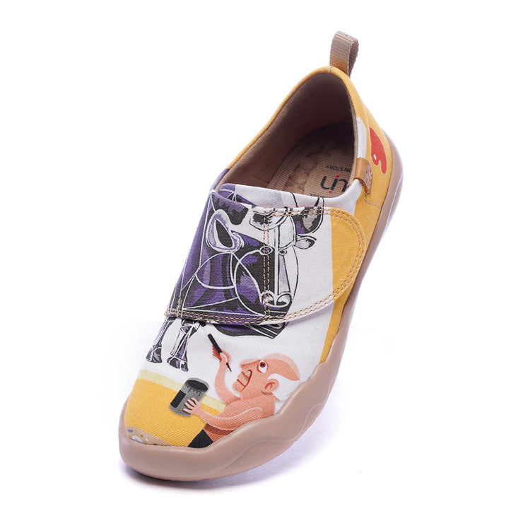 -Beautybull- Kids Art Painted Canvas Shoe