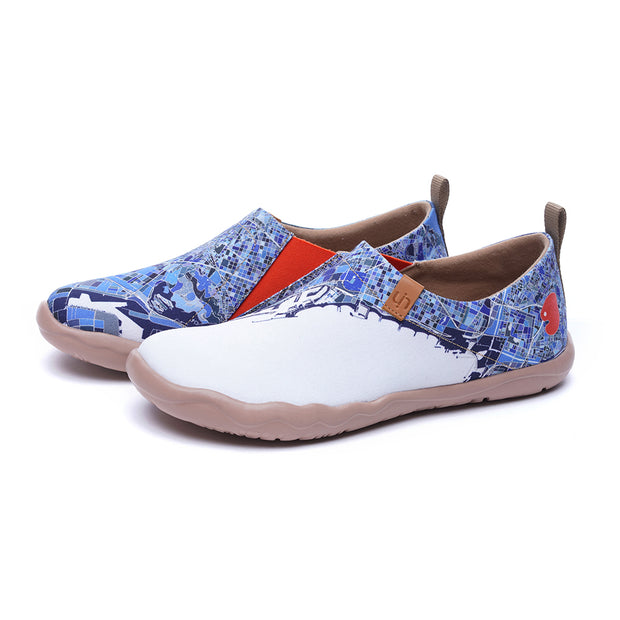 BARCELONA Men Canvas Art Painted Travel Shoes
