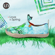 Love in Spring Abstract Painting Shoes For Lady