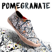 POMEGRANATE Painted Canvas Lady Slip-on Shoe