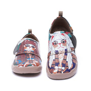 BRAVE PURSUIT- Kids Art Painted Leather Shoes
