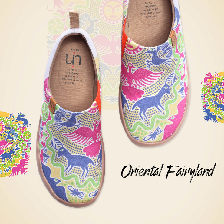Oriental Fairyland Lady Painted Loafers