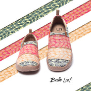 -Bodhi Leaf- Art Painted Travel Silp On Shoes