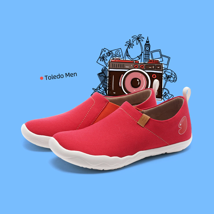 Toledo Red- Women Men Canvas Casual Shoes